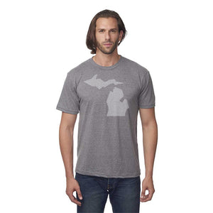 Unisex 50/50 Blend T-Shirt w/Simple Michigan Design