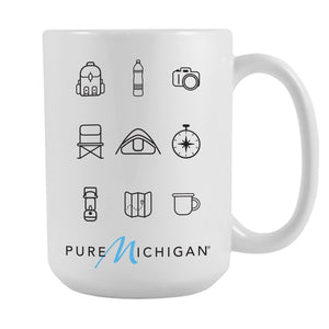 15 ounce Pure Michigan Camping Essentials Mug