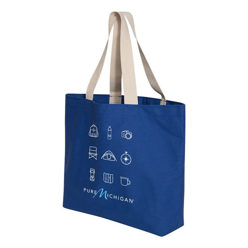 Jumbo Royal Blue Tote w/Camping Essentials Graphic