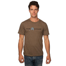 Load image into Gallery viewer, Mocha 50/50 Blend T-Shirt w/Black Pure Michigan Logo