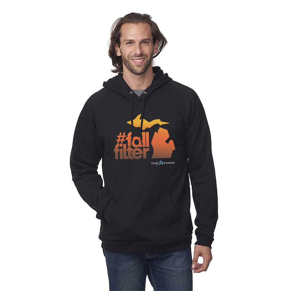 Black Fall Filter Organic Hoodie
