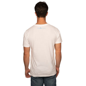 White 50/50 Blend T-Shirt Reverse with White Pure Michigan Logo