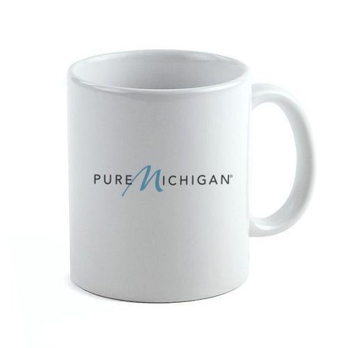 11 oz. White Coffee Mug with Pure Michigan Logo