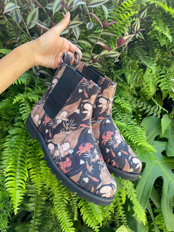 Chelsea Boot Floral Bege
