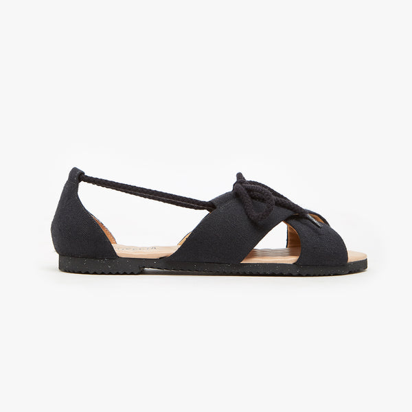 MONO BLACK SANDAL - Insecta Shoes