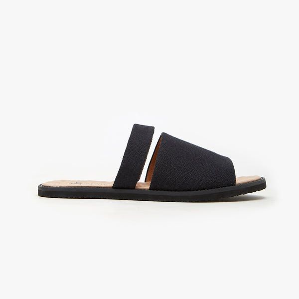 MONO BLACK SLIDER - Insecta Shoes