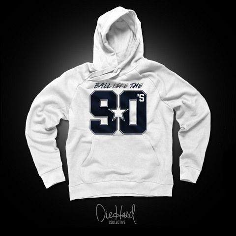 Ball Like the 90s | Men's White Hoodie Limited