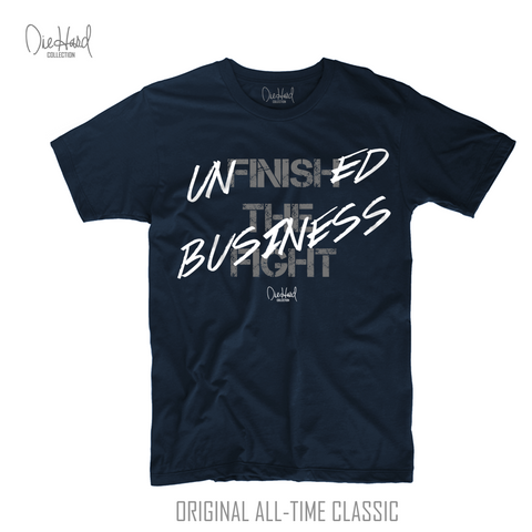 Unfinished Business (Men's Navy Blue Crew Neck Tee)