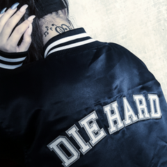 Until I Die Bomber Heritage Jacket (Navy Limited)