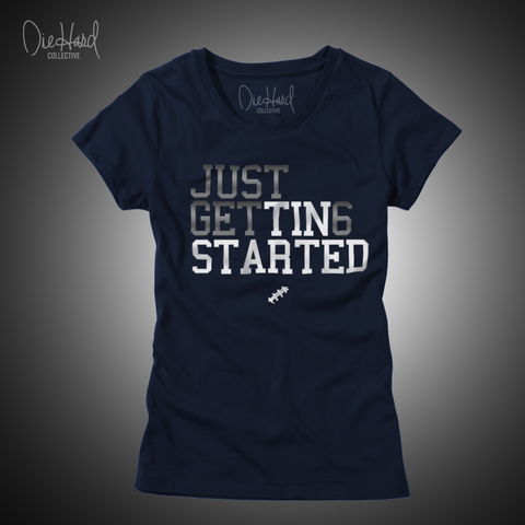 Just Get 6  (Women's Navy Tee)