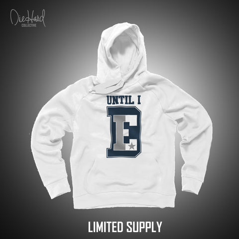 Until I Die (Men's White Hoodie) Limited Color Rush NEW!
