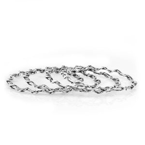 Silver Twisted Wire Bangle Gift For Her