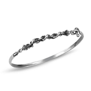 Silver Twisted Wire Bangle