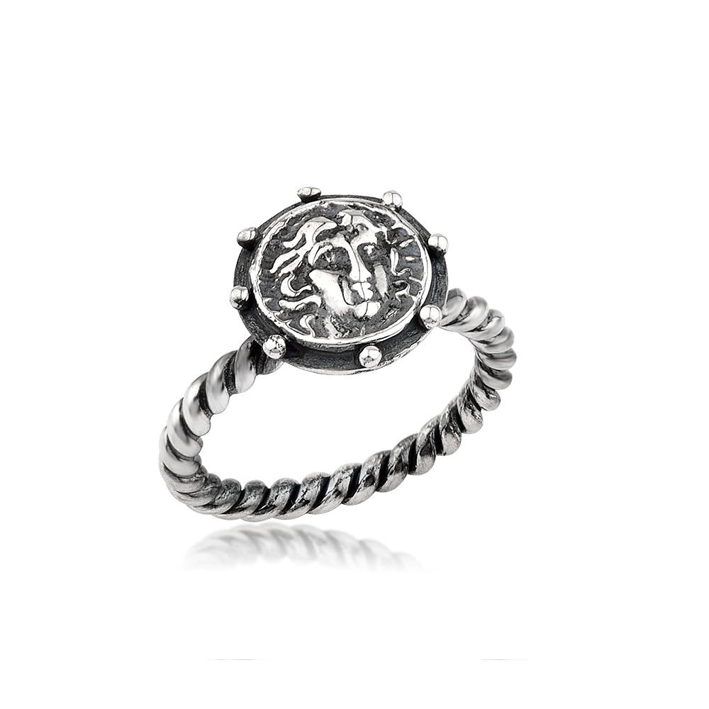 Silver Handmade Ancient Coin Ring