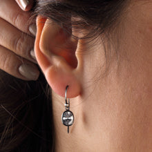 Load image into Gallery viewer, Silver Cubic Zirconia Earrings