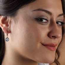 Load image into Gallery viewer, Silver Cubic Zirconia Pear Earrings