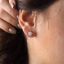 Load image into Gallery viewer, Silver Cubic Zirconia Stud Earrings