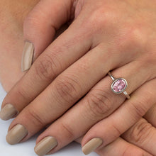 Load image into Gallery viewer, Silver Pink Spinel Solitaire Ring Gift For Her