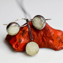 Load image into Gallery viewer, Silver Drusy Smithsonite Pendant