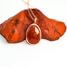 Load image into Gallery viewer, Silver Carnelian Necklace