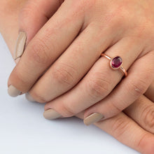 Load image into Gallery viewer, Silver Natural Ruby Solitaire Ring