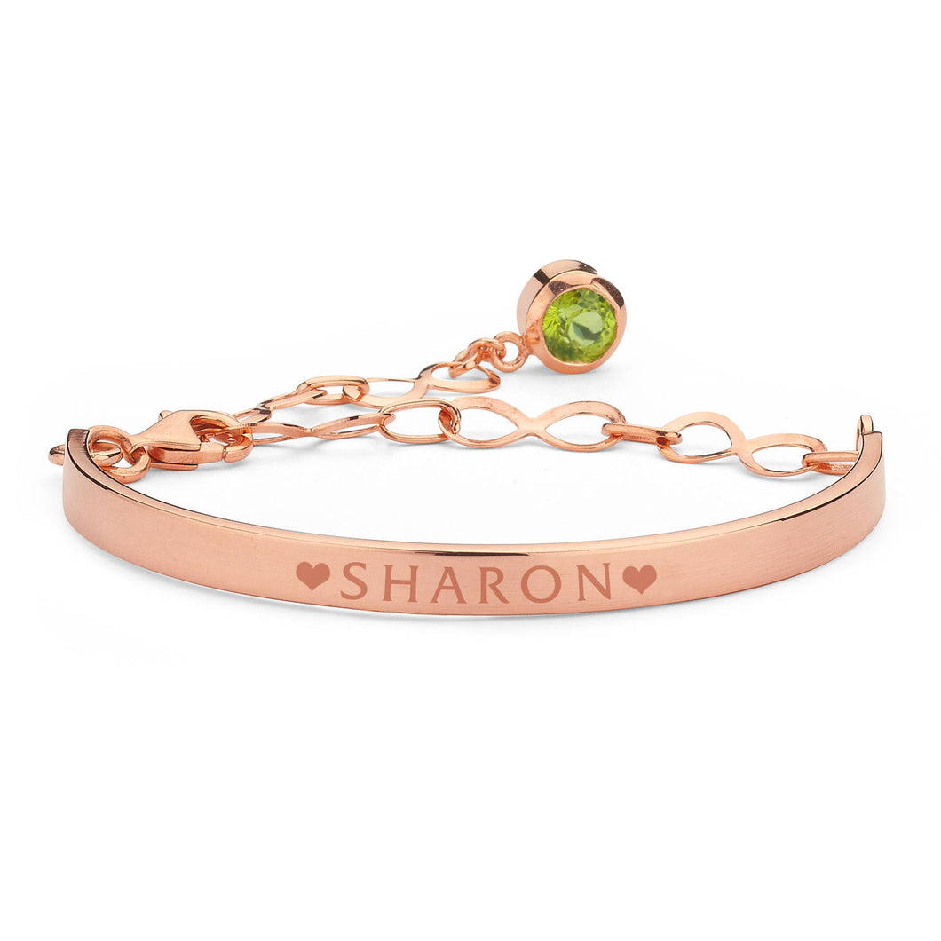 Personalized Birthstone Rose Gold Bracelet