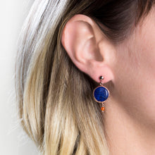Load image into Gallery viewer, Silver Lapis Lazuli Earrings