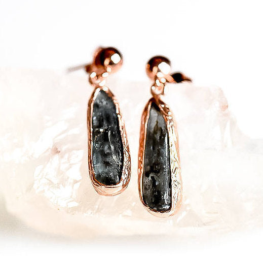 Silver Kyanite Earrings