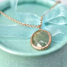 Load image into Gallery viewer, Sterling Silver Aquamarine Pendant Rose Gold