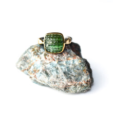 Load image into Gallery viewer, Elegant Handmade Silver Tourmaline Ring