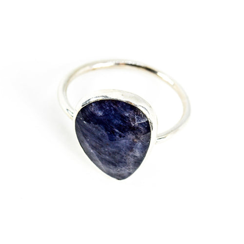 Sterling Silver Blue Aventurine Ring