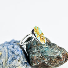 Load image into Gallery viewer, Silver Turquoise Ring