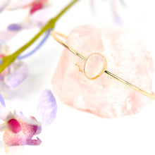 Load image into Gallery viewer, Rose Quartz Cuff Bracelet