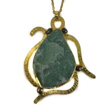 Load image into Gallery viewer, Silver Aventurine  Turtle Necklace