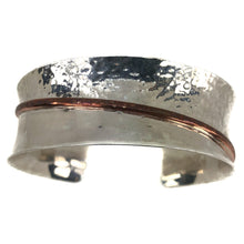 Load image into Gallery viewer, Sterling Silver  Hammered Cuff Bracelet
