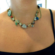 Load image into Gallery viewer, Silver Ancient Roman Glass Necklace