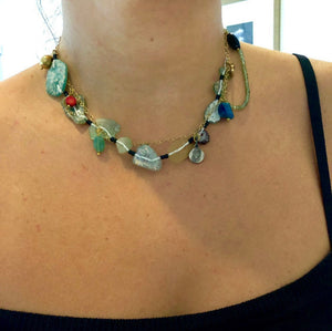 Silver Ancient Roman Glass Necklace