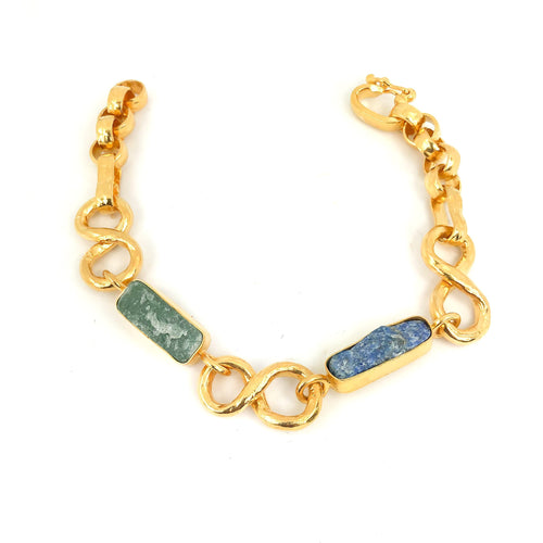 Raw Jade Gold Bracelet