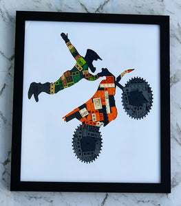 Motor Cross Framed Art