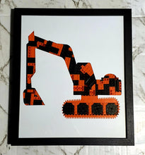 Load image into Gallery viewer, Orange Digger Framed Art