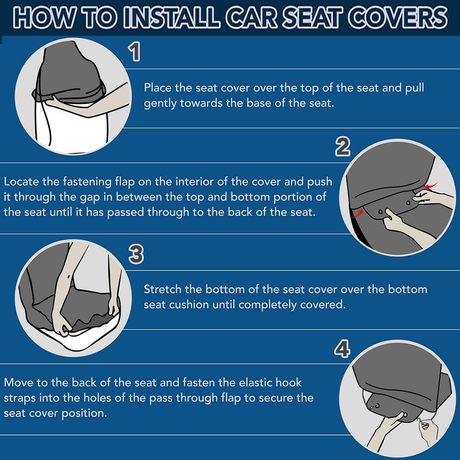 WonderBlackGirl Car Seat Covers Installation Guide - How To Install