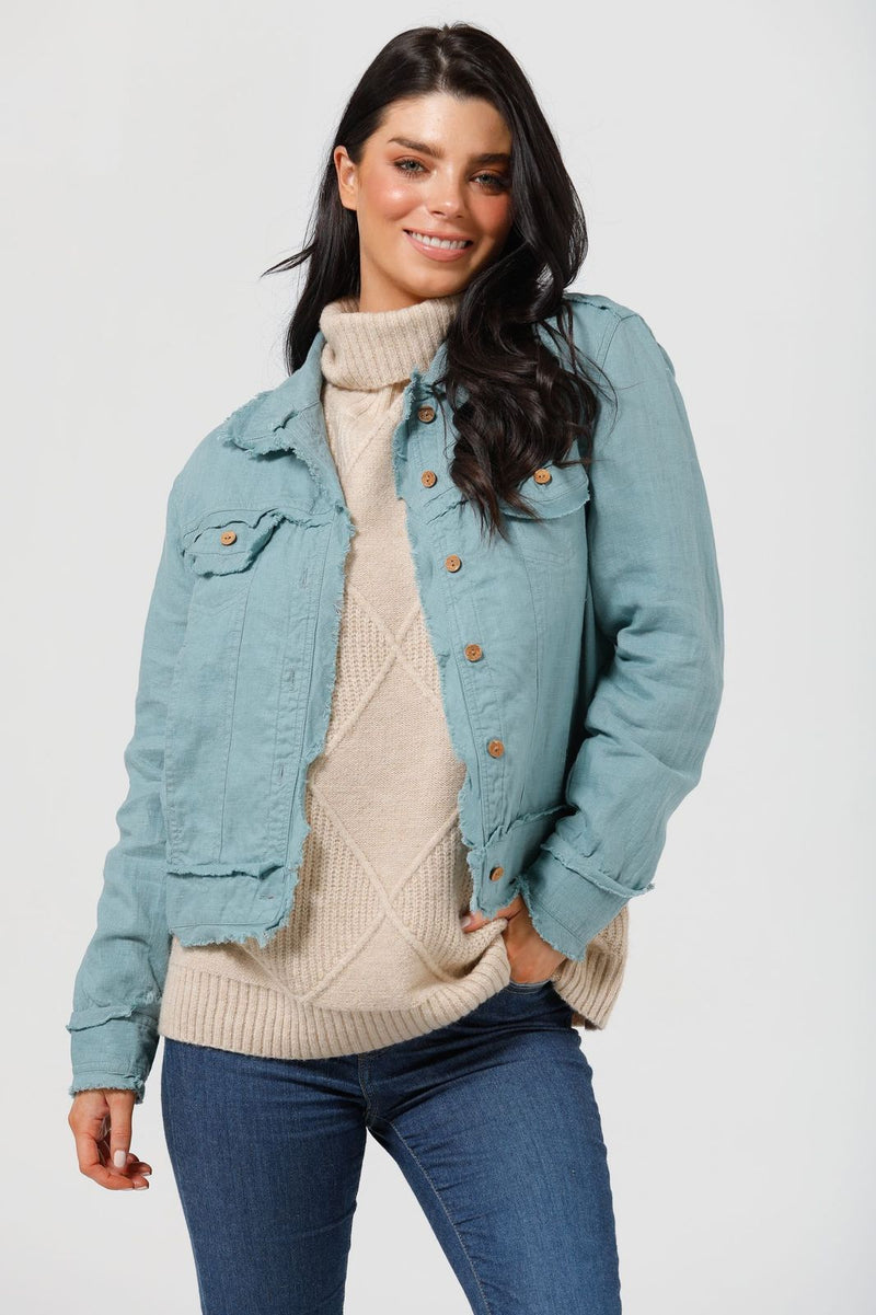 The Shanty Monza Jacket - Arctic Blue