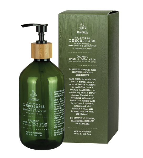 Urban Rituelle Flourish Organics - Lemongrass, Lemon Myrtle, Grapefruit and Eucalyptus Hand and Body Wash