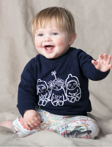 Walnut May Gibbs Cuddle Knit Jumper - Bush Baby Navy