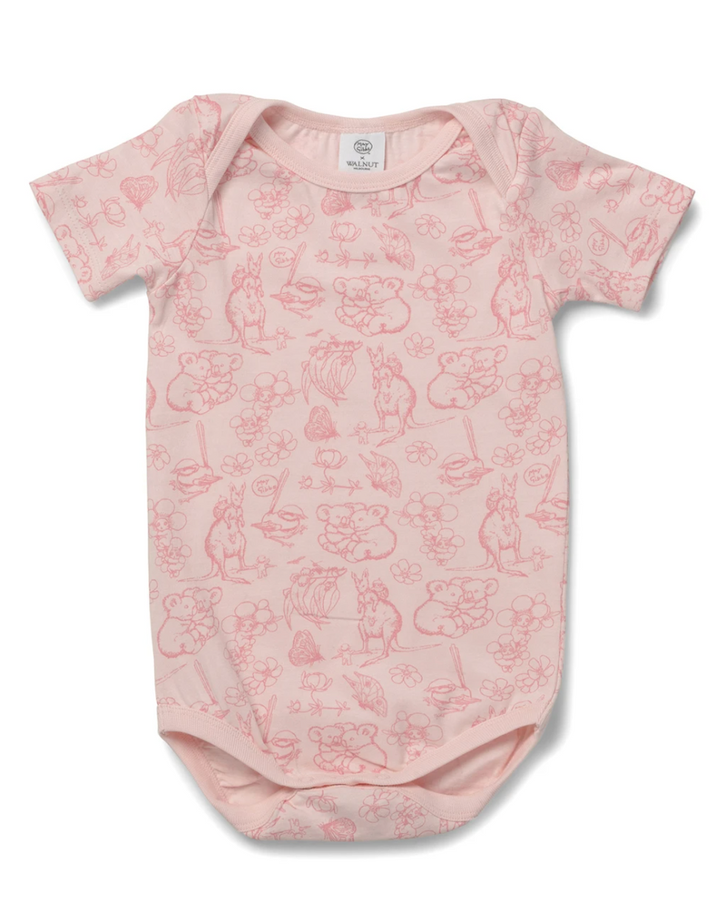 May Gibbs Wren Onesie - Bush Blooms