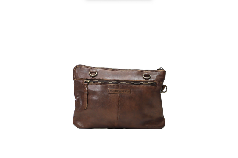Mahson & Co Morocco Cross Body Bag - Mud