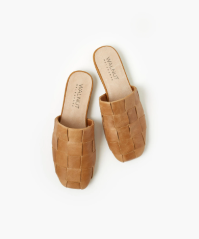 Walnut Melbourne Rommie Leather Mule