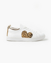 Walnut Melbourne Heart Leather Sneaker - Leopard Pony