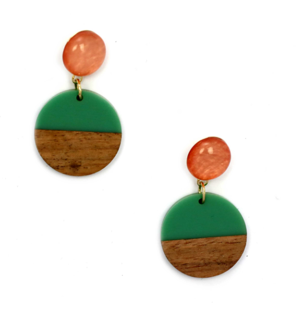 Zoda Earrings - Green