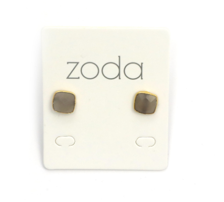 Zoda Earrings - Grey